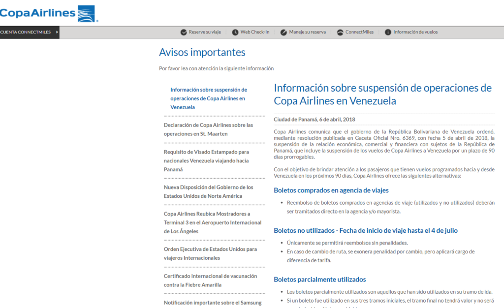 Copa Airlines crisis