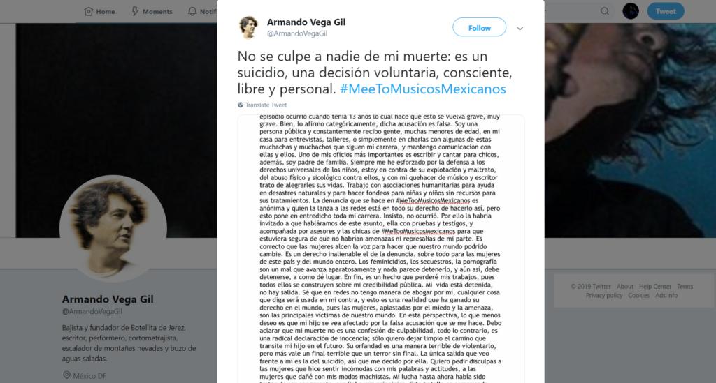 metoo-vega-gil-suicidio-twitter